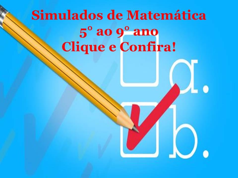 Simulados De Matemática 5 Ao 9 Ano Matematicapremio