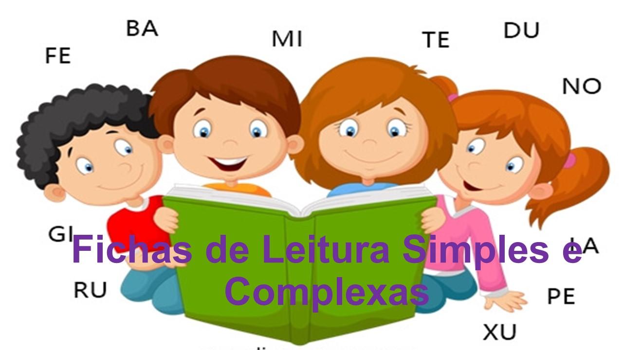 Fichas De Leitura Simples E Complexas Para Download Matematicapremio